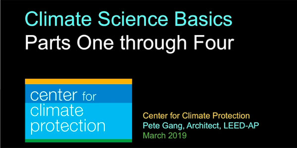 Climate Science Basics-Parts 1 through 4